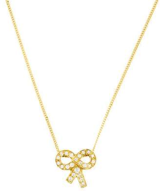 18K Diamond Bow Pendant Necklace