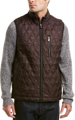 Rainforest Huntsville Leather-Trim Quilted Vest
