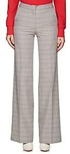 Off-White Women's Plaid Cotton-Blend Trousers - Tartan Formal Fabric