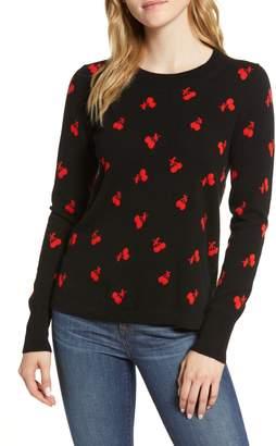 J.Crew Cherries Every Day Cashmere Sweater
