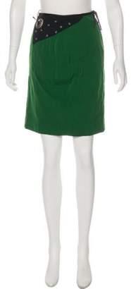 Jean Paul Gaultier Embellished Midi Skirt Green Embellished Midi Skirt