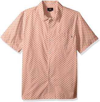 Obey Men's Gavin Woven Short Sleeve Button Up Shirt