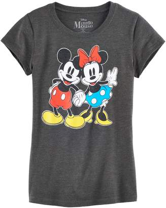 Disney's Mickey Mouse & Minnie Mouse Hand Hold Graphic Tee $20 thestylecure.com
