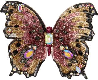 Betsey Johnson Gold-Tone Multi-Stone Butterfly Statement Ring