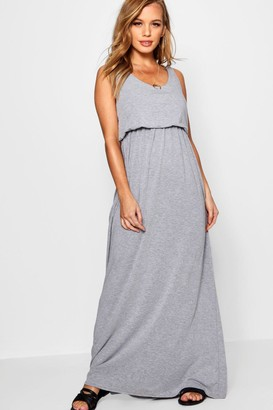 boohoo Petite Bagged Over Racer Back Maxi Dress
