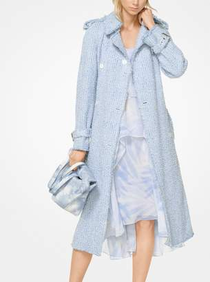 Michael Kors Tweed Trench Coat