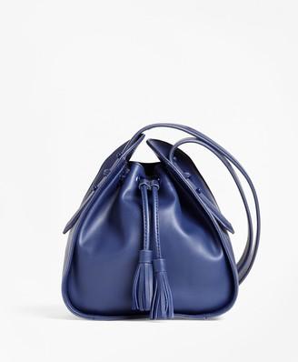 Brooks Brothers Leather Cross-body Bucket Bag