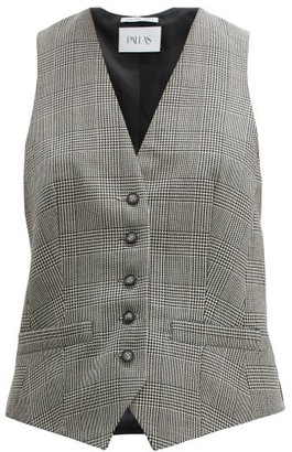 Pallas X Claire Thomson Jonville X Claire Thomson-jonville - Prince Of Wales Check Wool Waistcoat - Womens - Grey Multi