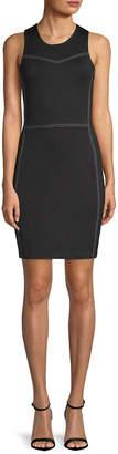 Armani Exchange Contrast Stitch Sheath Dress