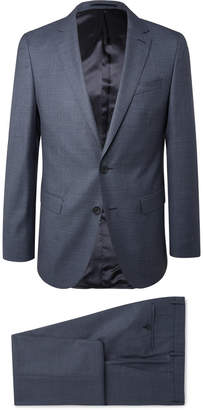 HUGO BOSS Navy Slim-Fit Puppytooth Virgin Wool Suit