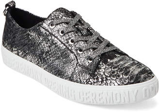Opening Ceremony Silver La Cienega Snake-Effect Low-Top Sneakers