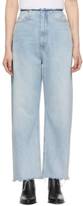 Alexander Wang Blue Split Jeans