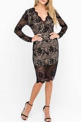 Lush Lace Dress, Black