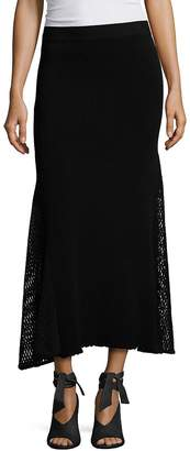 Derek Lam Women's Long Mesh Skirt