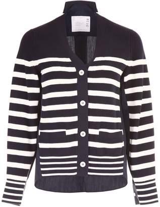 Sacai Striped Cardigan