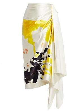 Dries Van Noten Women's Silk Sash Wrap Midi Skirt