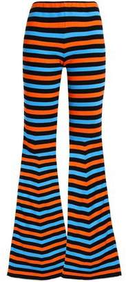 Moschino Striped Cotton Flared Pants