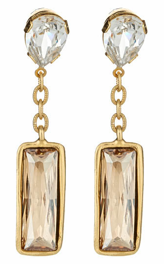 Diana Warner Rectangle Drop Earrings