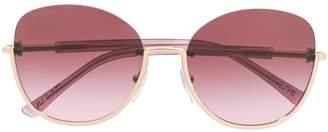 Bulgari rounded semi-rimless sunglasses