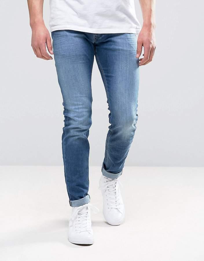 DieselDiesel Sleenker Skinny Jeans 0681N Mid Wash