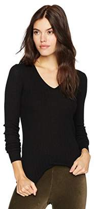 Vince Women's Mixed Rib V-Neck