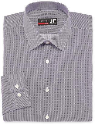 Jf J.Ferrar Long Sleeve Broadcloth Dots Dress Shirt