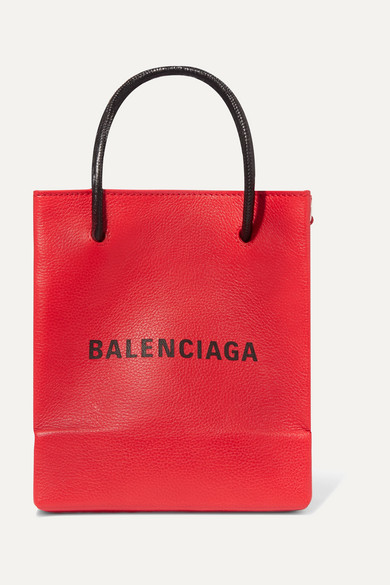 Balenciaga - Xxs Aj Printed Textured-leather Tote