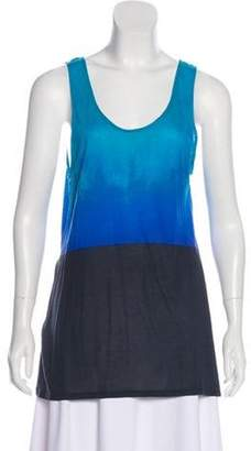 Jonathan Saunders Ombre Sleeveless Top Blue Ombre Sleeveless Top