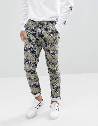 Asos DESIGN Skinny Pants In Vintage Palm Tree Print