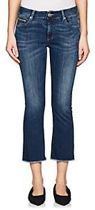 Care Label Women's Cigarette Crop Flared Jeans-Md. Blue
