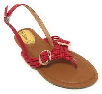 Forever Young Victoria K Women's Multi Straps With Gold Side Buckles Sandals