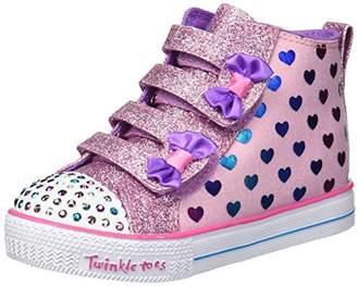 Skechers Girls' Shuffle LITE-Fancy Flutters Sneaker