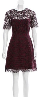 Sandro Lace-Embroidered Knee-Length Dress $95 thestylecure.com