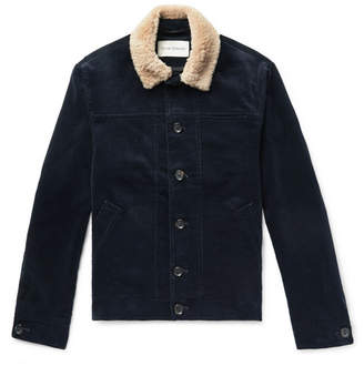 Oliver Spencer Shearling-Trimmed Cotton-Corduroy Jacket