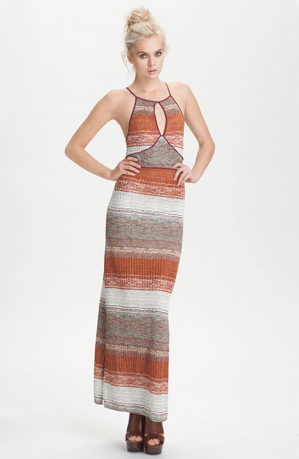 Free People 'All Day Long' Stripe Keyhole Maxi Dress