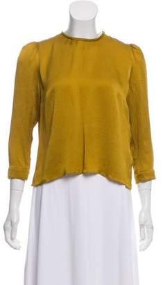 Roksanda Three-Quarter Sleeve Silk Top