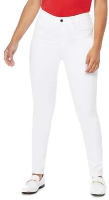 Principles Petite - White Slim Leg Petite Jeans