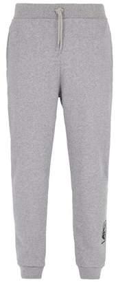 A.P.C. Denise Logo Print Cotton Jersey Track Pants - Mens - Grey