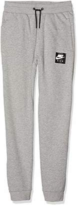 Nike Boy's B Air Pant Sports Trousers (Dk Grey Heather 063), (Manufacturer Size: X-)