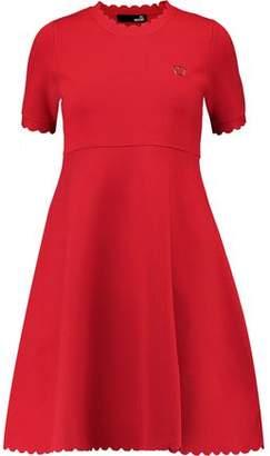 Love Moschino Textured Stretch-Knit Dress