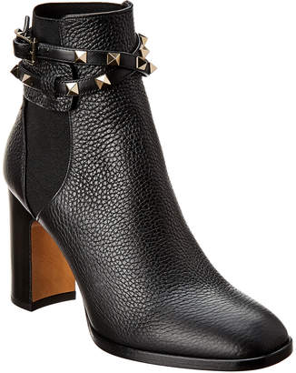 Valentino Rockstud 90 Leather Bootie