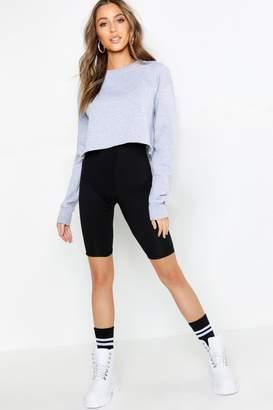 boohoo Petite Basic Cropped Sweat Shirt