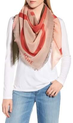 Loewe Ombre Anagram Wool Scarf