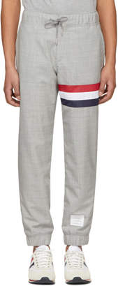 Thom Browne Grey Seamed Stripe Lounge Pants