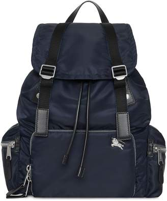 Burberry The Large Rucksack in Aviator Nylon and Leather