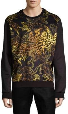 Versace Long-Sleeve Graphic Sweater