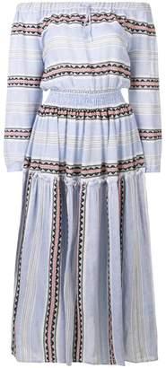 Lemlem striped off shulder dress