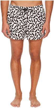 Dolce & Gabbana Abstract Short Boxer Swimsuit w/ Bag