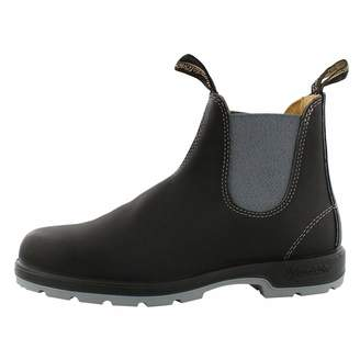 Blundstone The Leather Lined Classic Chelsea Boot (6 AUS/Womens 9 US/Mens 7 US, Black/Grey)