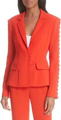 Cinq à Sept Vivianna Button Sleeve Jacket